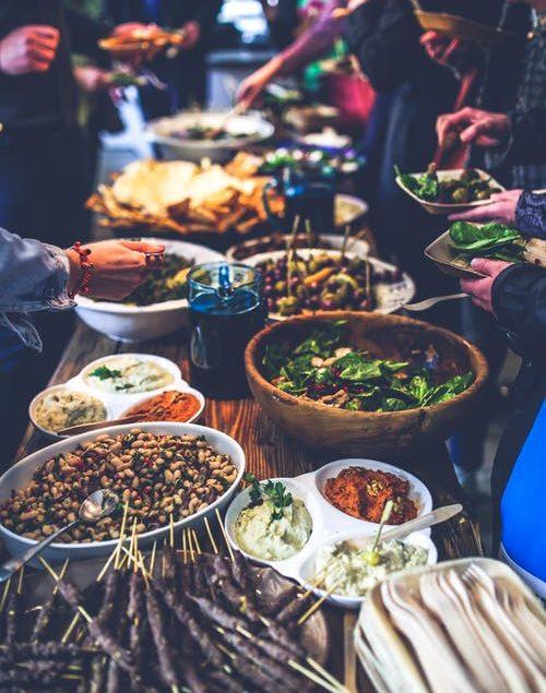 catering traiteur event walking dinner buffet recepties